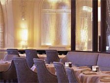 Dining room at XIX Nineteen Restaurant, Philadelphia, PA