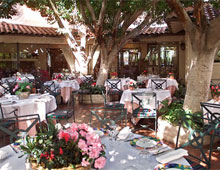 Dining room at Le Vallauris, Palm Springs, CA