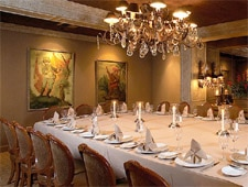 Dining room at Wally's Desert Turtle, Rancho Mirage, CA