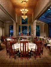Dining room at Wright's at the Biltmore, Phoenix, AZ