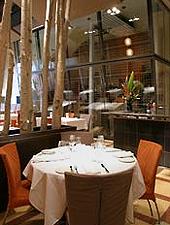 Dining room at THIS RESTAURANT IS CLOSED L'Utopie, Quebec City, canada