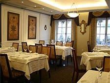 Dining room at Le Saint-Amour, Quebec City, canada