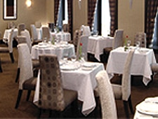 Dining room at L'Initiale, Quebec City, canada