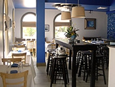 Dining room at blu seafood & bar, Durham, NC