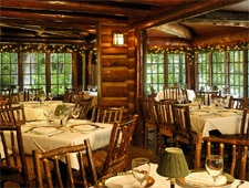 Dining room at Log Haven, Salt Lake City, UT