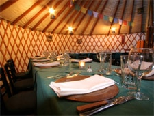 Dining room at The Yurt at Solitude, Brighton, UT
