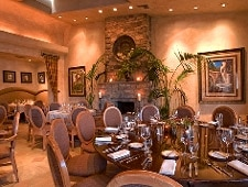 Dining room at Delicias, Rancho Santa Fe, CA
