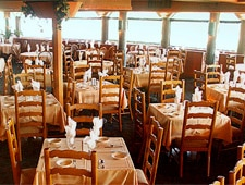 Dining room at Harbor House Seafood Restaurant & Oyster Bar, San Diego, CA