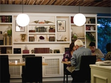Dining room at Book Bindery, Seattle, WA