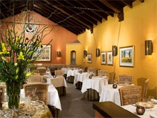 Dining room at Acquerello, San Francisco, CA
