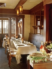 Dining Room at Chez Panisse, Berkeley, CA