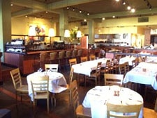 Dining room at Insalata's, San Anselmo, CA