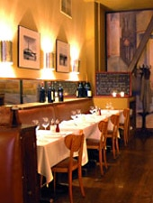 Dining Room at Cafe Claude, San Francisco, CA
