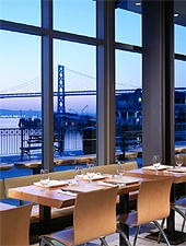 The creative food at Slanted Door brings California flair to authentic Asian flavors and techniques.