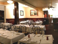 Dining room at Angelino Restaurant, Sausalito, CA