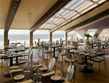 Dining room at La Costanera, Montara, CA
