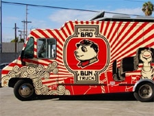 Food truck specializing in Chinese buns with gourmet fillings.