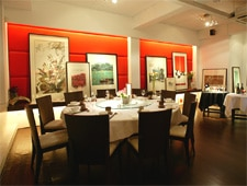Dining room at Xi Yan, Singapore, singapore