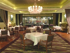 Dining room at Pelham's, Shanghai, china