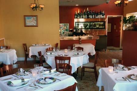 Dining Room at Restaurant Sent Sovi, Saratoga, CA