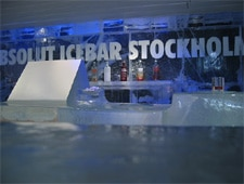 Dining room at Absolut Icebar Stockholm, Stockholm, sweden