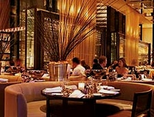 Dining room at glass brasserie, Sydney, australia