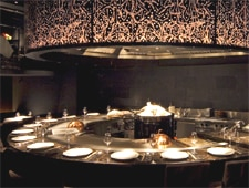 Dining room at Morimoto, Tokyo, japan
