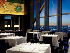 Dining room at New York Grill, Tokyo, japan