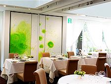 Dining room at Hotel de Mikuni, Tokyo, japan