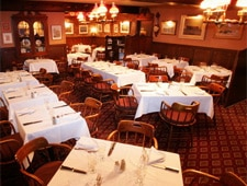 Dining room at Barberian's Steak House, Toronto, canada
