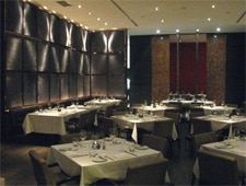 Dining room at One Restaurant, Toronto, canada