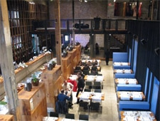 Dining room at The Boiler House, Toronto, canada