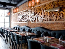 Dining room at Origin, Toronto, canada