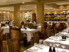 Dining room at Araxi Restaurant, Whistler, canada