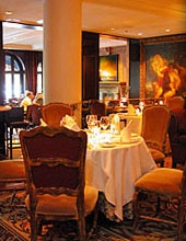 Dining room at Bacchus Restaurant & Piano Lounge, Vancouver, canada