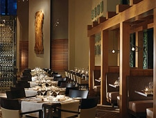 Dining room at YEW seafood + bar, Vancouver, canada
