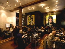 Dining room at Cibo Trattoria, Vancouver, canada