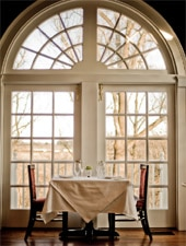 Dining room at Goodstone Inn & Estate, Middleburg, VA