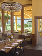 Dining room at Brix, Napa, CA