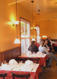 Dining room at Bistro des Copains, Occidental, CA