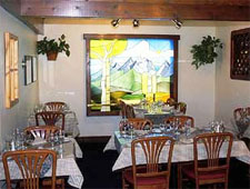 Dining room at The Blue Lion, Jackson Hole, WY