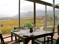 Dining room at Guardian Peak Restaurant, Stellenbosch, south-africa