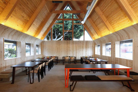 Dining Room at A-Frame, Los Angeles, CA
