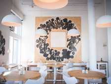 Dining room at Aamanns-Copenhagen, New York, NY