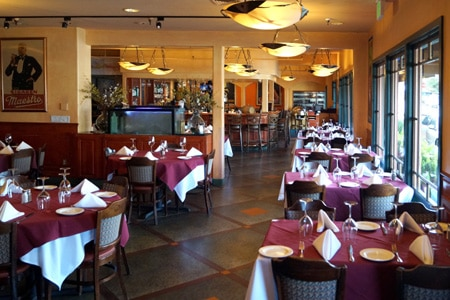 Dining Room at Abalonetti Bar & Grill, Monterey, CA