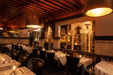 Acabar's glamorous setting makes it one of the Top 10 Romantic Restaurants in Los Angeles Area