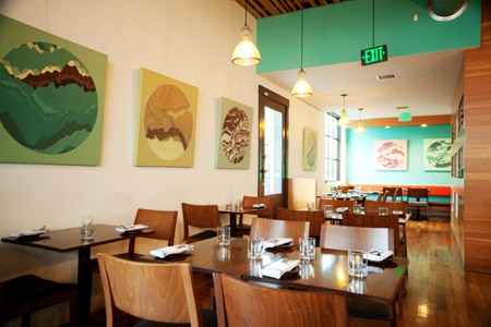 Dining room at Accanto, Portland, OR