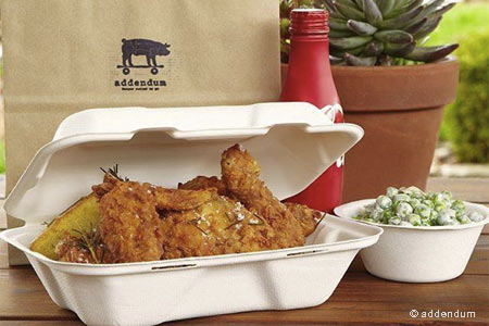 Take-out spot offering Thomas Keller's fried chicken and BBQ.