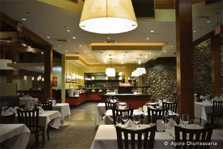 Dining Room at Agora Churrascaria, Irvine, CA