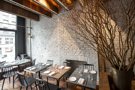 Dining room at All'onda, New York, NY